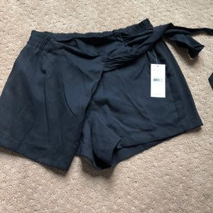 Ella Moss Black Wrap Shorts